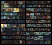 Disney & Pixar's Toy Story - Concept Art - Color Script Panels by Ralph Eggleston