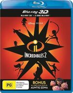 Incredibles 2 2018 AUS Blu Ray 3D