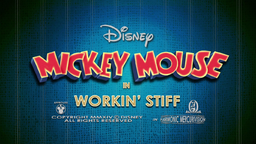 Mickey Mouse Workin' Stiff Title Card