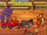 Winnie the Pooh Tigger Piglet Rabbit and Eeyore in the old west