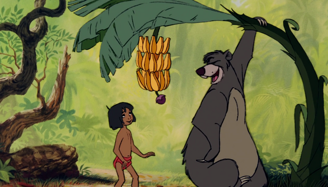 File:Baloo Giving Mowgli Bananas.png