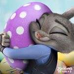 Zootopia Judy Hopps Purple White Spotted Egg