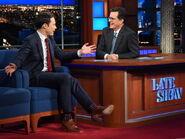 Jim Parsons visits Stephen Colbert