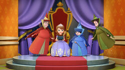 Sofia the first throne a l