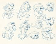 Disney's Reason and Emotion - Emotion Model Sheet by Fred Moore