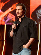 Matthew McConaughey speaks at American Country Showdown