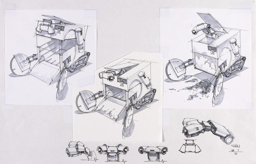 Image - WALL-E concept drawing 7.jpeg | Disney Wiki | FANDOM powered ...