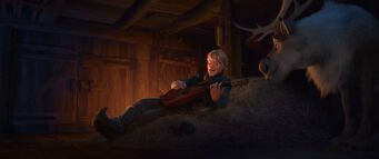 Kristoff singing to Sven