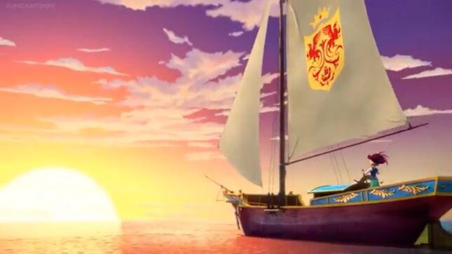 Naomi sails off into the sunset