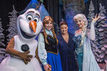 Olaf Anna Idina and Elsa Disney World