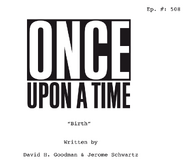 Once Upon a Time - 5x08 - Birth - Script Cover