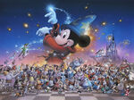 Mickey's Party (Sorcerer Mickey and other Disney characters)