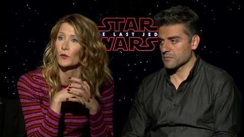 Star Wars The Last Jedi Laura Dern & Oscar Isaac Interview