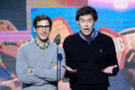 Andy Samberg & Bill Hader speak at Independent Spirit Awards