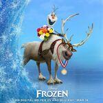 Olaf und Kristoff DVD Veröffentlichung