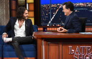 Russell Brand visits Stephen Colbert