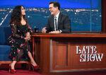 Salma Hayek visits Stephen Colbert