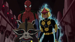 Spider-Man Nova Rocket Racoon USWW