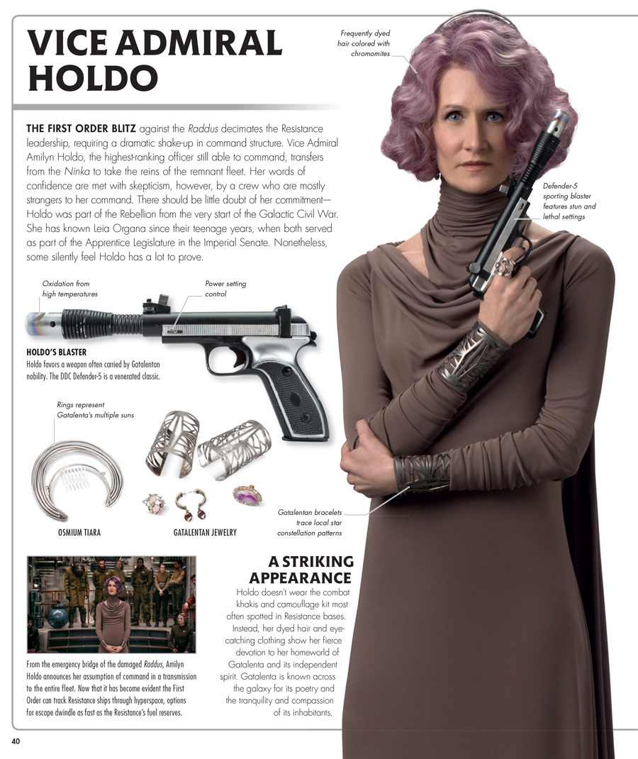 Star Wars Last Jedi Visual Dictionary Vice Admiral Holdo Interior Page