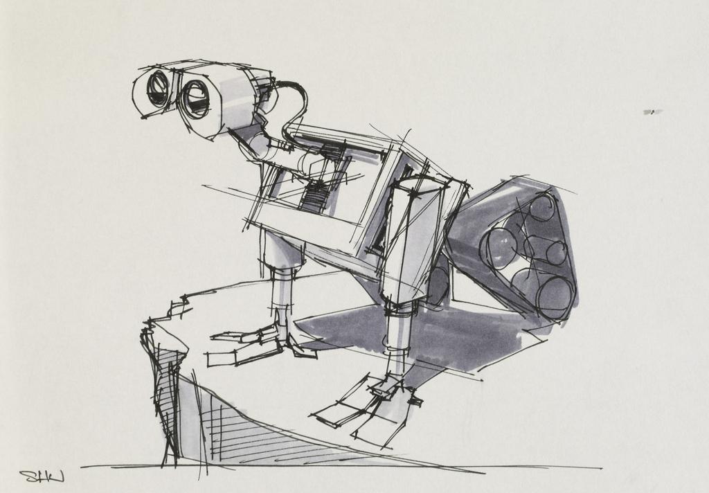 Line Drawing Wiki : Image wall e concept drawing eg disney wiki fandom