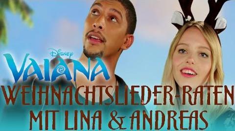 Weihnachtslieder erraten mit Lina & Andreas - Synchronsprecher von VAIANA Disney HD