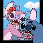 Angel and Stitch smartphone smile
