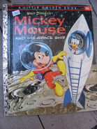 Mickey mouse and his space ship