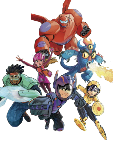 File:Big Hero 6 team Illustrated Render I.png