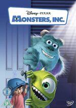 Monsters Inc UK DVD