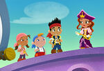 Pirate Princess with Jake and crew