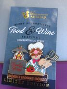2015 Food and Wine Festival pin