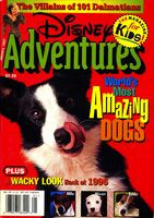 Disney adventures january 1997 cover amazing dogs