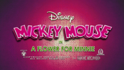 Mickey Mouse A Flower For Minnie Title card