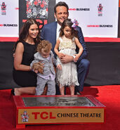 Vince Vaughn and Family at Handprint Ceremony