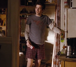 Jay Baruchel in boxers as Dave Stutler in The Sorcerers Apprentice as a college student