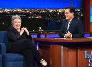Kathy Bates visits Stephen Colbert