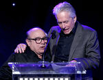 Michael Douglas & Danny DeVito speak at Reel Stories, Real Lives event