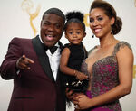 Tracy Morgan and Megan Wollover and daughter Maven 67th Emmys