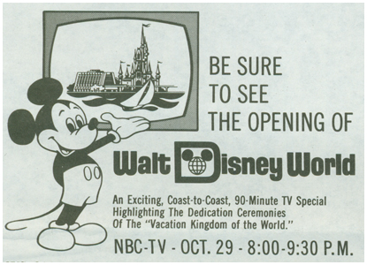 Image result for walt disney world grand opening 1971