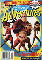 Disney Adventures Magazine cover November 2004 The Incredibles