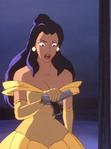 Elisa dressed as belle