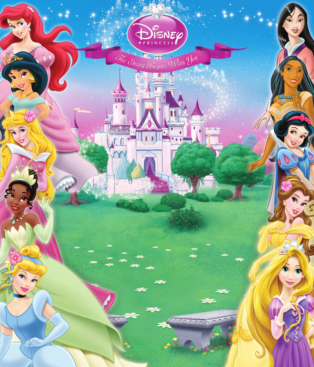Image new disney princess background disney princess - Housse de couette disney princesse ...