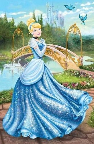 Image cinderella disney princess 34346260 328 - Peinture princesse disney ...