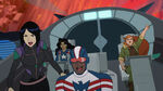 Marvel Rising Secret Warriors - Quake, America Chavez, Patriot and Squirrel Girl