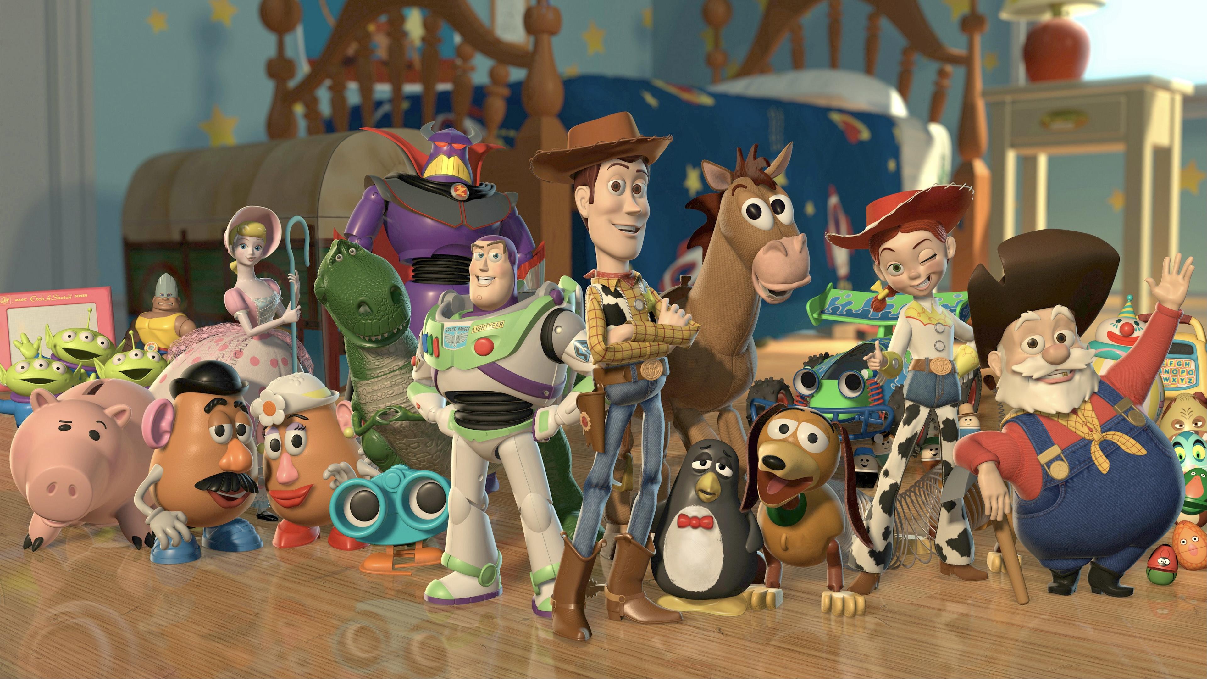 Toy Story 2 Characters Desktop Wallpaper 3840x2400