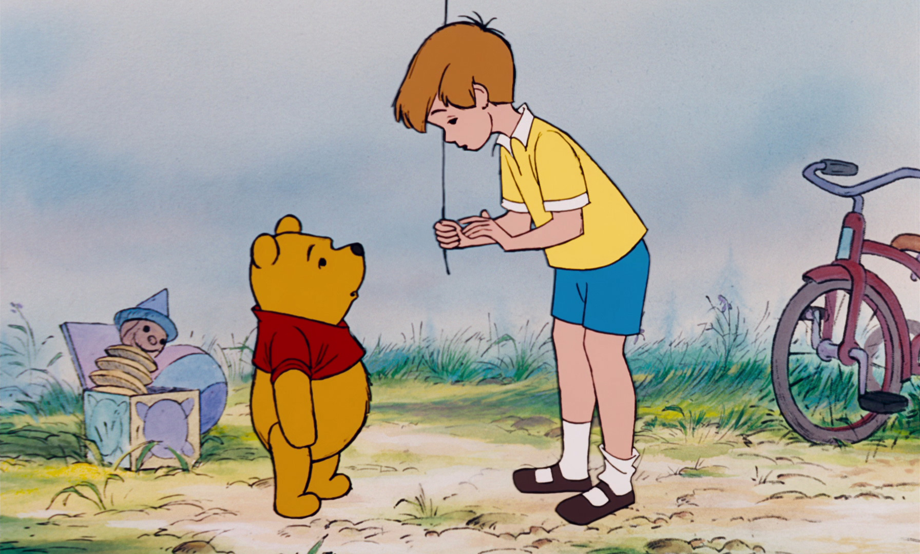 Game boy color pooh wiki - Winnie The Pooh Has Told Christopher Robin He Wants To Use The Blue Balloon To Get Honey Jpg