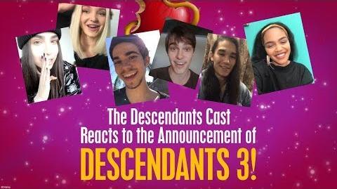 Video - Cast Reactions! 🙌 😍 Descendants 3 | Disney Wiki