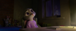 Judy feels sad at her apartment