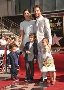 Matthew McConaughey and fam at Walk of Fame