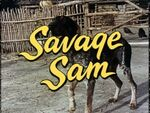 Savage Sam Title Card